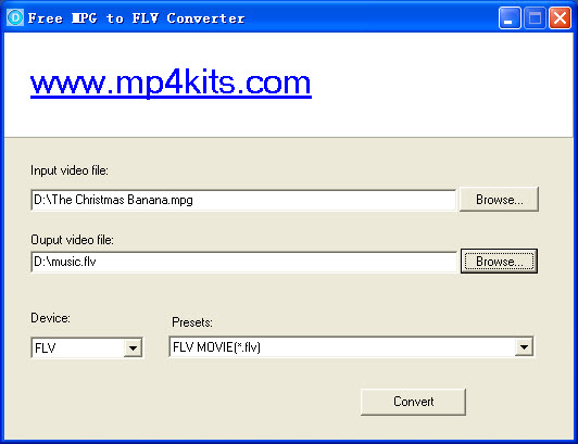 The world best free mpg to flv converter.