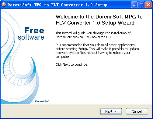 Convert MPG(MPEG-1, MPEG-2) to flash video FLV file with DoremiSoft Free MPG to FLV Converter.